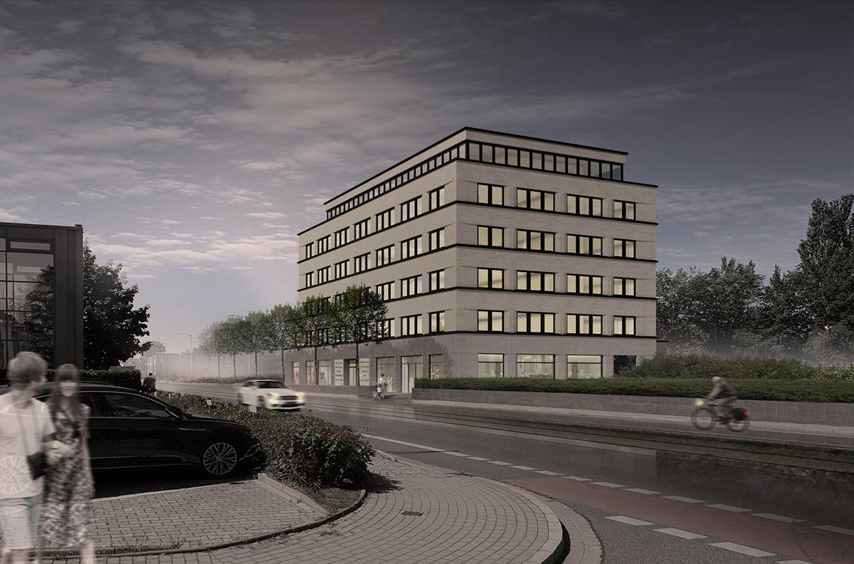 Bauprojekt Löbtauer Straße 66 Dresden Sachsen Außenansicht Nacht