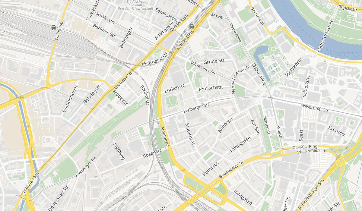 Dresden Sachsen Löbtau Karte