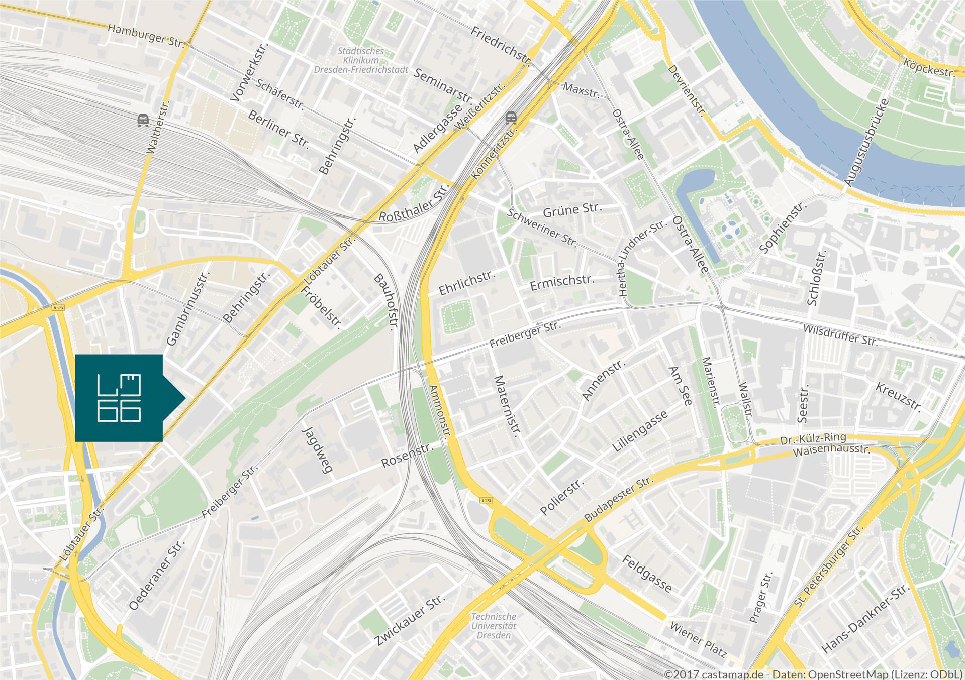 Gesundheitszentrum Dresden Lageplan